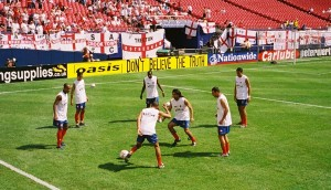 England v Colombia Warm Up 4