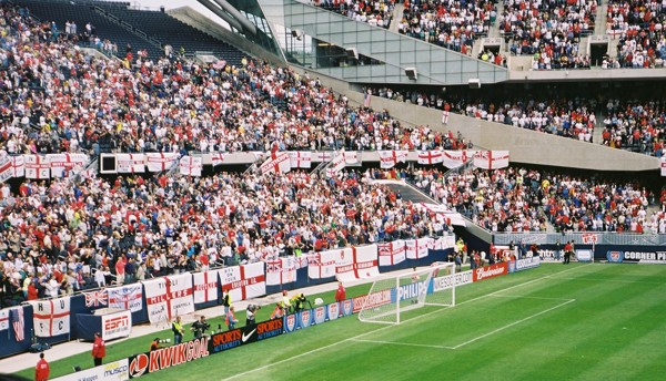 Soldier Field - England Flags